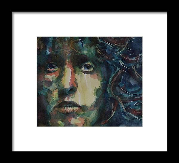 Roger Daltrey . The Who Framed Print featuring the painting Behind Blue Eyes by Paul Lovering