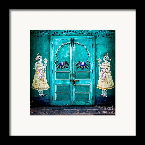 India Framed Print featuring the photograph Behind The Green Door by Catherine Arnas