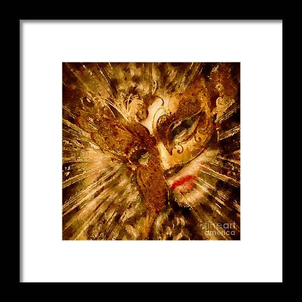Painting Framed Print featuring the painting Behind The Mask by Scott B Bennett