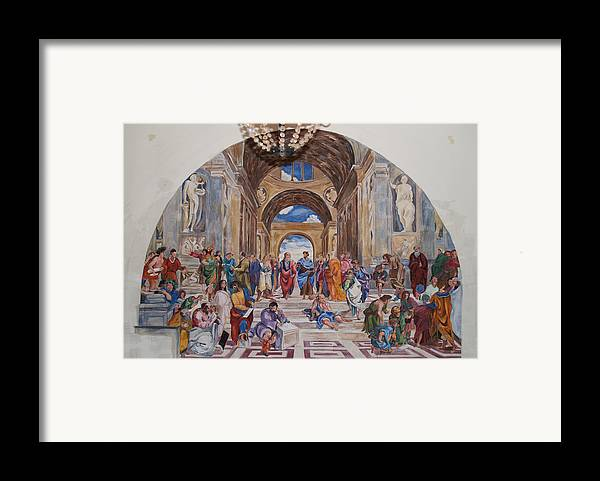 Photography Framed Print featuring the painting Behind The Scenes Mural 9 by Becky Kim