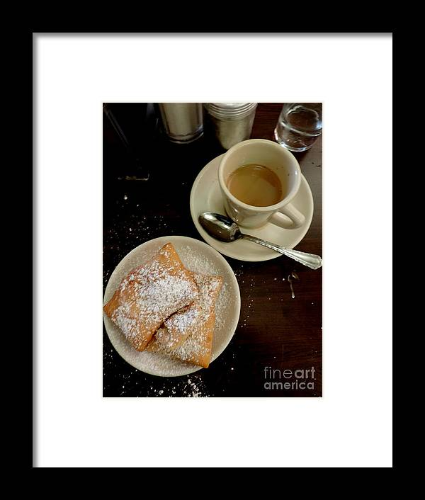 Nola Framed Print featuring the photograph New Orleans Beignets And Coffee Au Lait by Michael Hoard