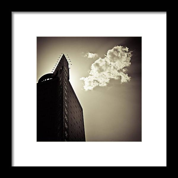 Beijing Framed Print featuring the photograph Beijing Cloud by Dave Bowman