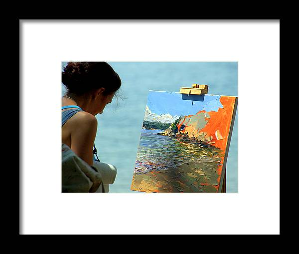 Artist Framed Print featuring the photograph Being Creative by Caroline Stella