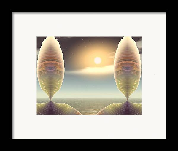 Abstract Framed Print featuring the digital art Being There by Wendy J St Christopher