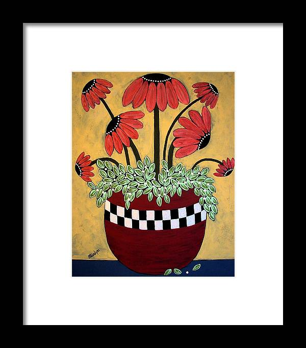 Daisy Framed Print featuring the painting Bejeweled by Linda Stewart