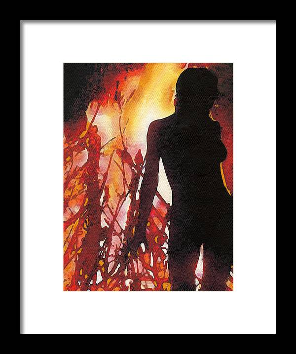 Beltane Framed Print featuring the painting Bel Fire by Melissa D'Ortenzio
