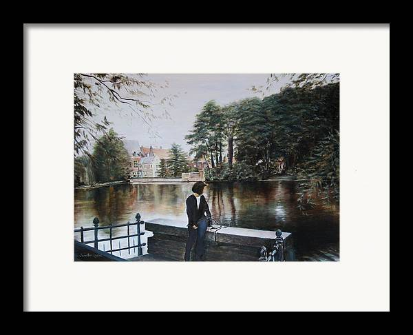 Water Framed Print featuring the painting Belgium Reflections In Water by Jennifer Lycke