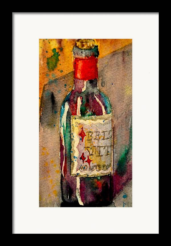 Wine Framed Print featuring the painting Bella Vita by Beverley Harper Tinsley