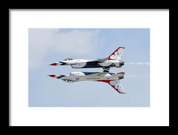 Usaf Framed Print featuring the photograph Belly Up by Brent Flint