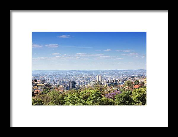 Tranquility Framed Print featuring the photograph Belo Horizonte by Antonello