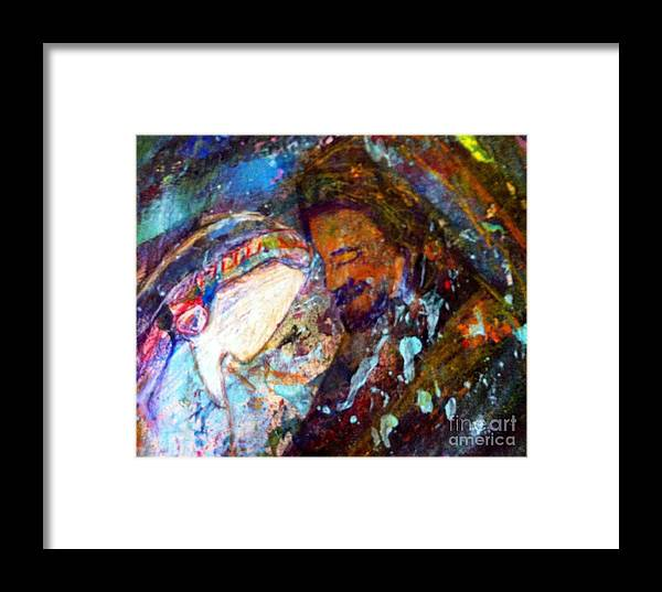 Faceless Framed Print featuring the painting Beloved by Deborah Nell
