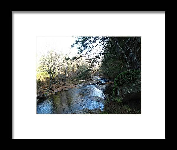 River Framed Print featuring the photograph Belvidere Junction Stream Vermont by Barbara McDevitt