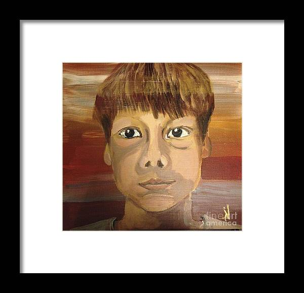 Portrait Framed Print featuring the painting Ben by Art Ina Pavelescu