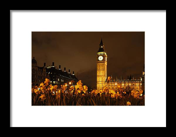 Big Ben Framed Print featuring the photograph Ben With Flowers by Mike McGlothlen