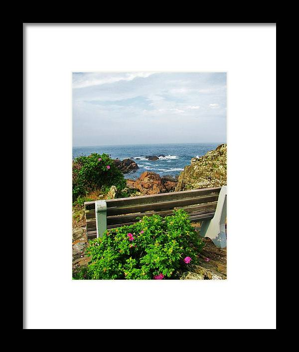 Ogunquit Framed Print featuring the photograph Marginal Way by Diane Valliere