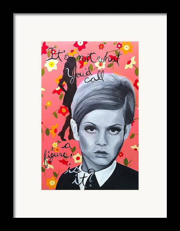 Twiggy Framed Print featuring the painting Benchmark Of Beauty IIi by Nique Arr