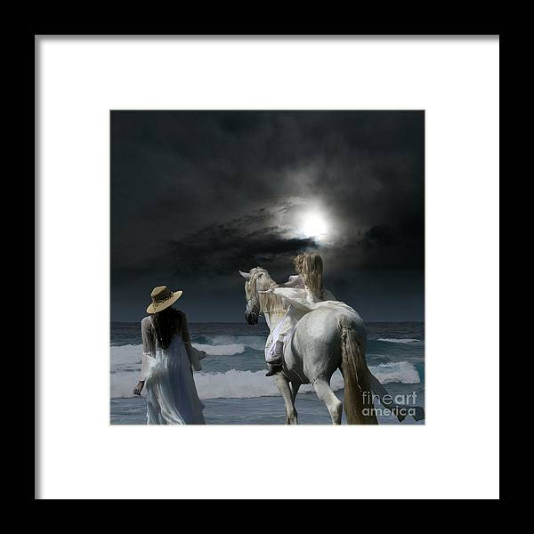 Beneath The Illusion In Colour Framed Print featuring the photograph Beneath The Illusion In Colour by Sharon Mau