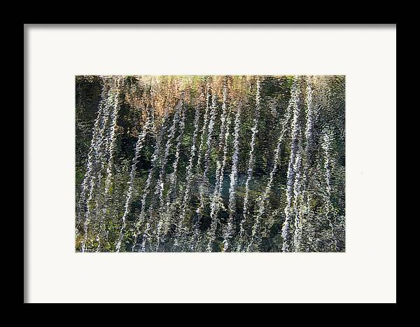 Abstract Framed Print featuring the photograph Beneath The Reflection by Roxy Hurtubise
