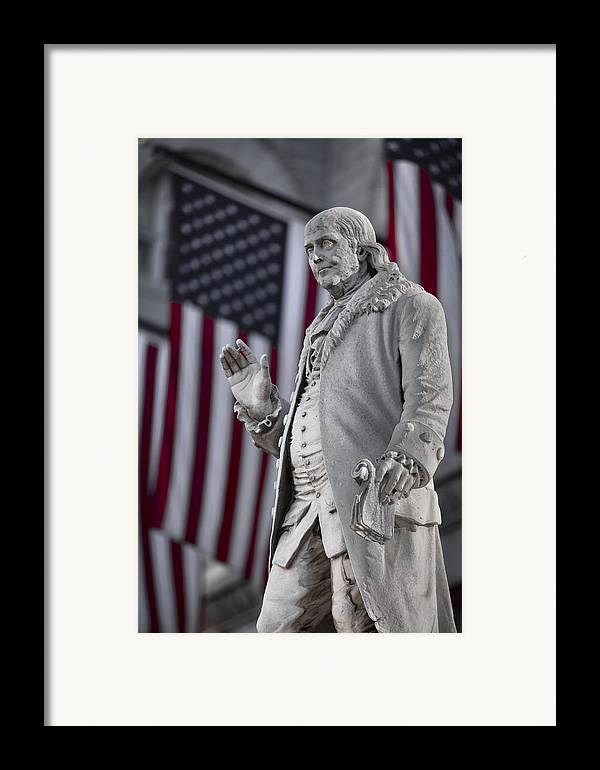 America Framed Print featuring the photograph Benjamin Franklin by Eduard Moldoveanu