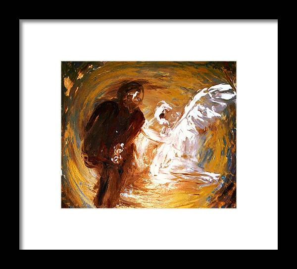 Ben Framed Print featuring the digital art Ben's Angel 2 by Dorothy Berry-Lound