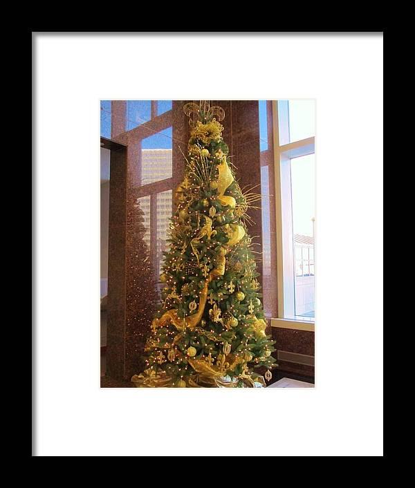 Saints Framed Print featuring the photograph Benson Towers - Fleur De Lis Tree - New Orleans La by Deborah Lacoste