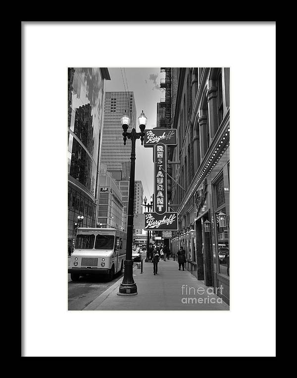 Chicago Framed Print featuring the photograph Berghoff Restaurant by David Bearden