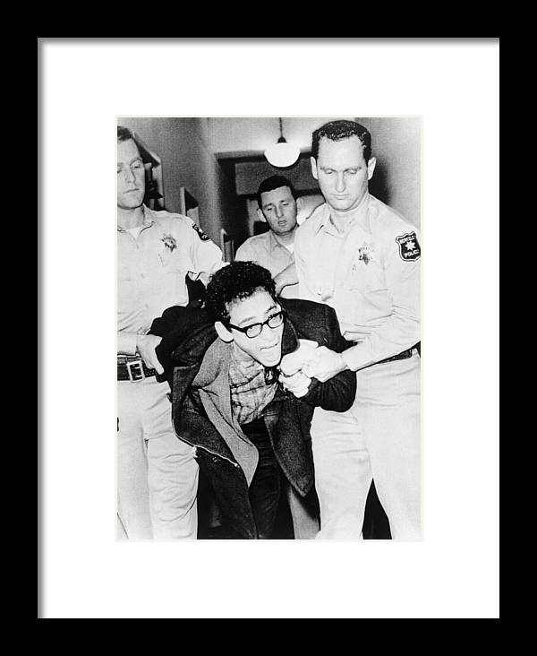 1964 Framed Print featuring the photograph Berkeley Protest, 1964 by Granger