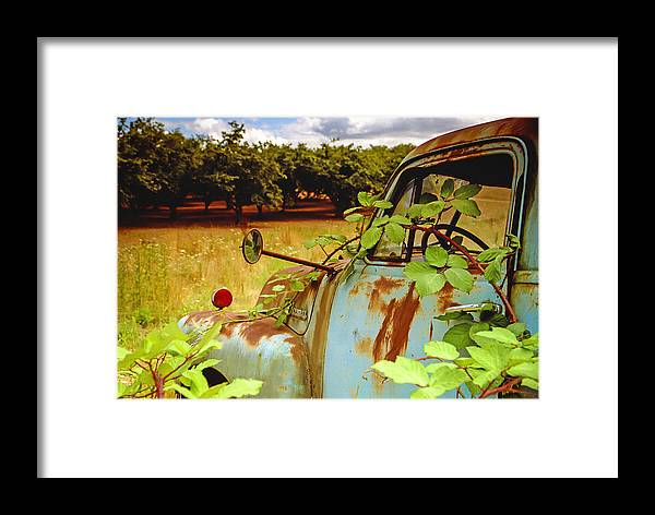 Jean Noren Framed Print featuring the photograph Berry Old Truck 2 by Jean Noren