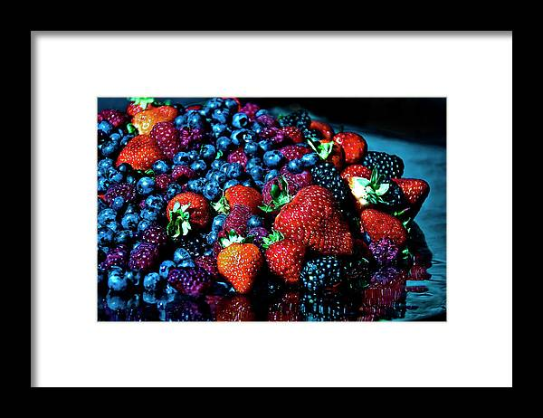 Serving Dish Framed Print featuring the photograph Berrylicious by Daniela White Images