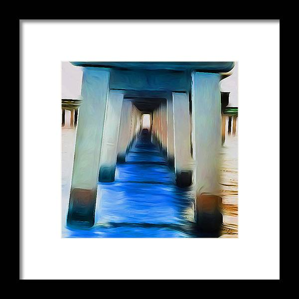 Ocean Framed Print featuring the photograph Beside The Cool Blue Waters by Jimi Bush