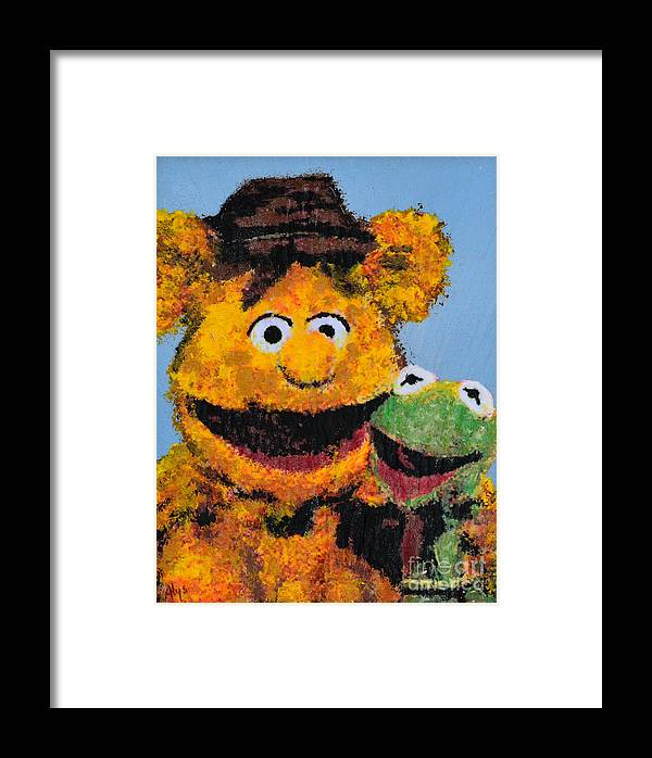 The Muppets Framed Print featuring the painting Best Friends by Alys Caviness-Gober