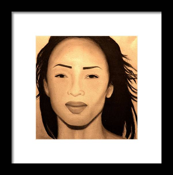 Music Framed Print featuring the drawing Best Of Sade by Shari SharStar Afflick