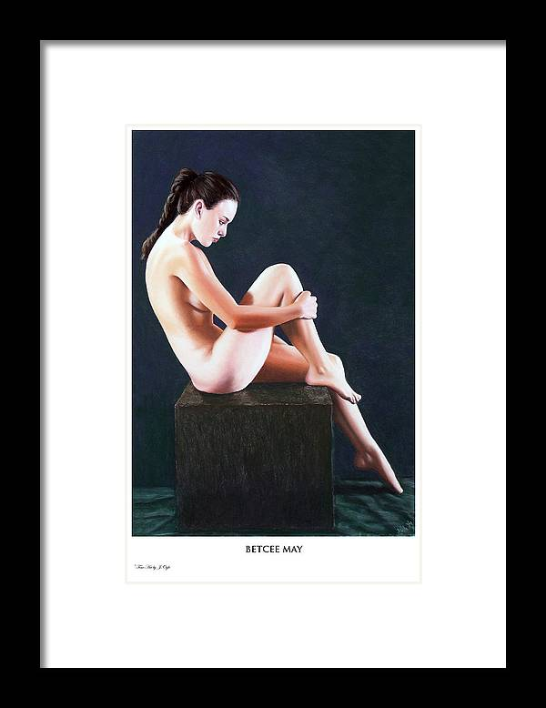 Joseph Ogle Framed Print featuring the painting Betcee May prints only by Joseph Ogle