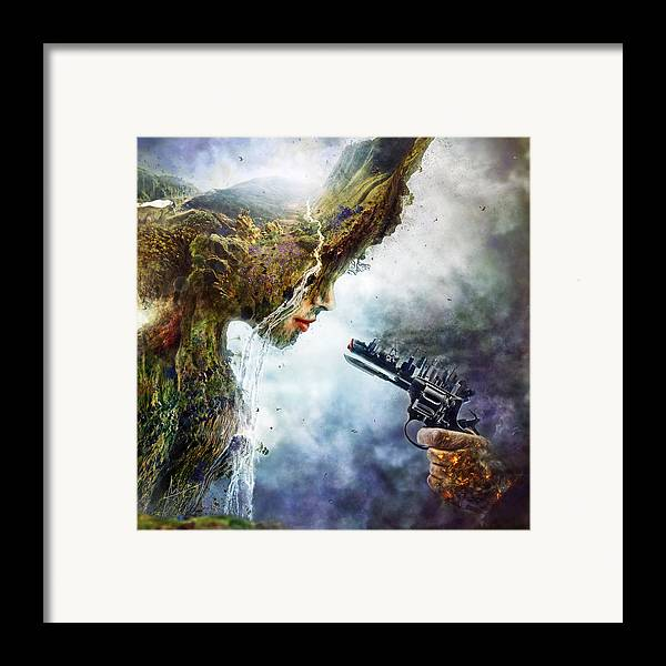 Betrayal Framed Print featuring the digital art Betrayal by Mario Sanchez Nevado