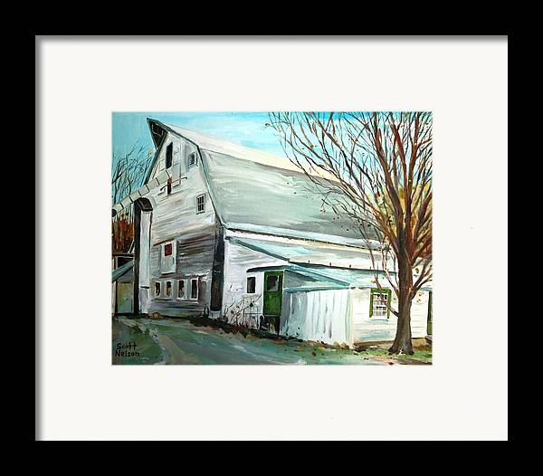 Millbury Ma Framed Print featuring the painting Better Days by Scott Nelson