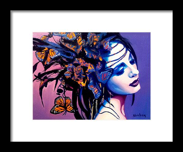Butterflies Framed Print featuring the painting Betty by Jose Manuel Abraham