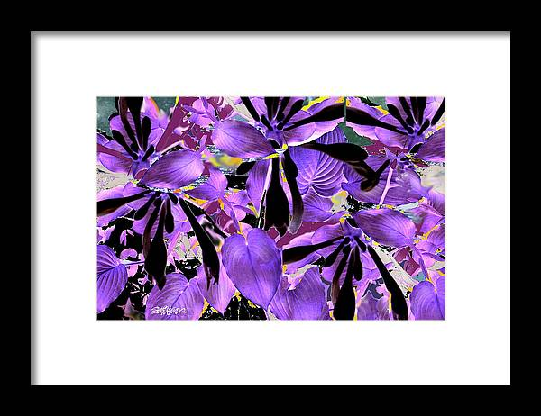 Beware The Midnight Garden Framed Print featuring the digital art Beware The Midnight Garden by Seth Weaver