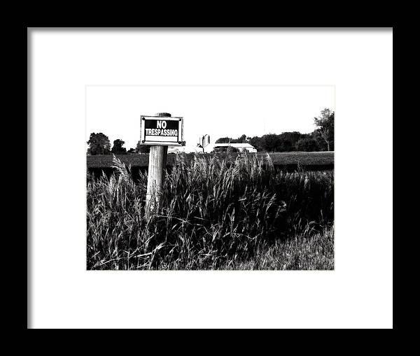 Landscape Framed Print featuring the photograph Beware by Tom Druin