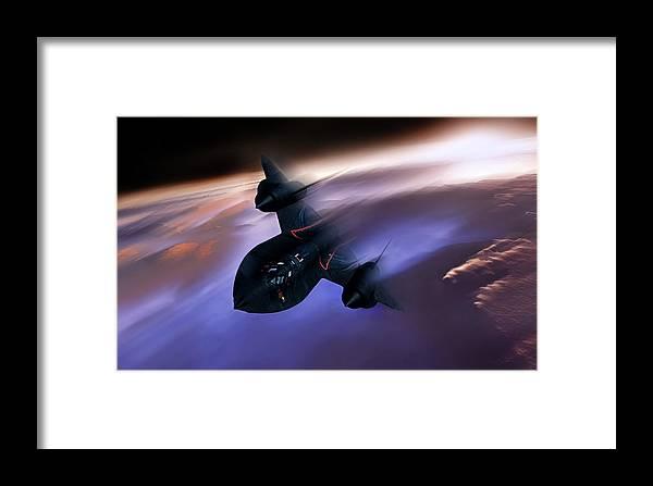 Sr-71 Framed Print featuring the digital art Beyond Mach 3 by Peter Chilelli