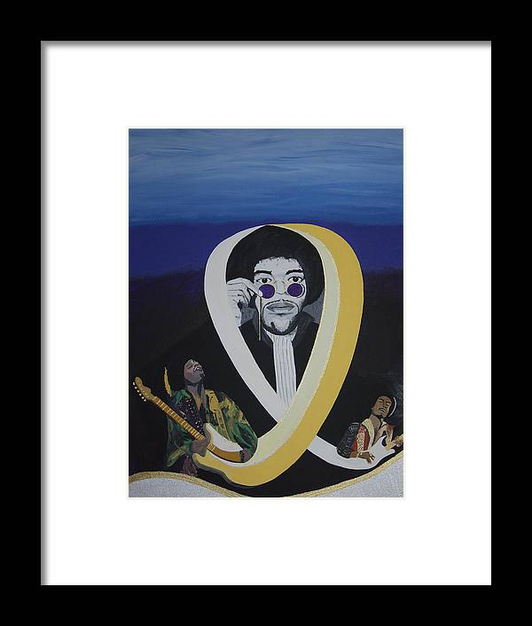 Memorable Framed Print featuring the painting Beyond The Haze by Dean Stephens