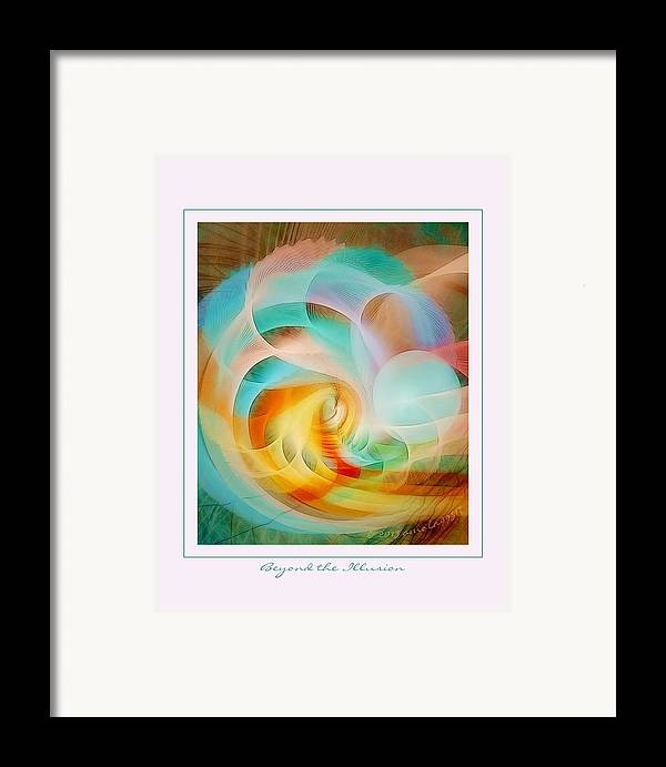 Fractal Framed Print featuring the digital art Beyond The Illusion by Gayle Odsather