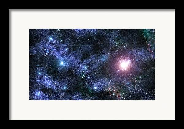 Space Framed Print featuring the photograph Beyond The Stars by Jayden Bell
