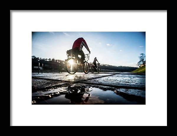 People Framed Print featuring the photograph Bicycles by A. Aleksandravicius