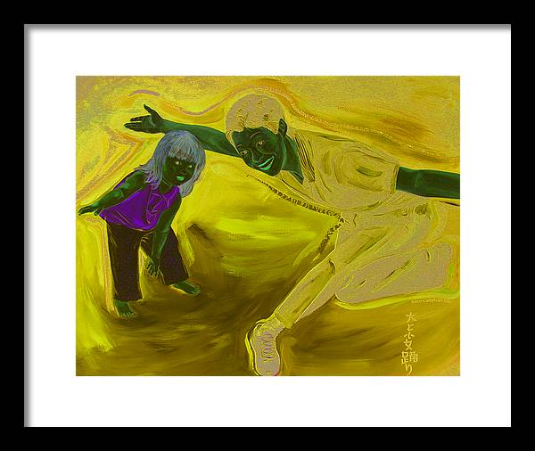 Kevin Callahan Framed Print featuring the painting Big and Little Women Dancing by Kevin Callahan