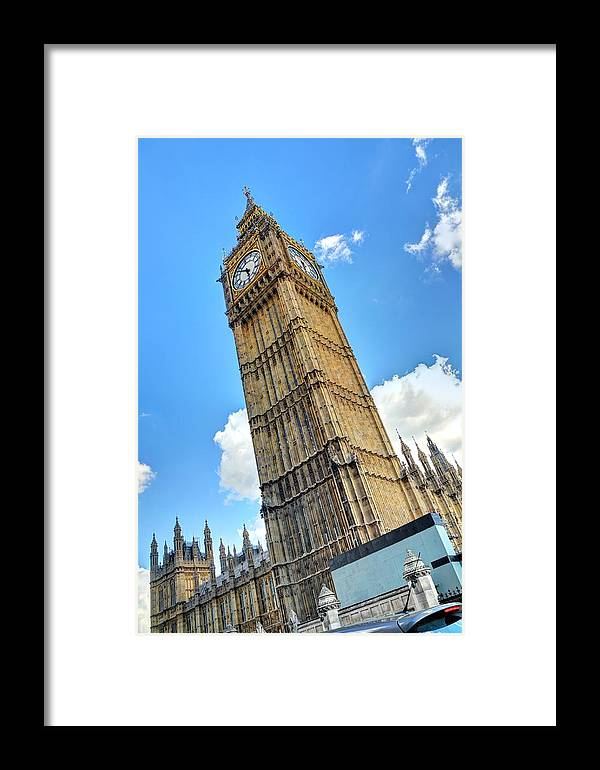 Big Ben Framed Print featuring the drawing Big Ben by Tony Brooks
