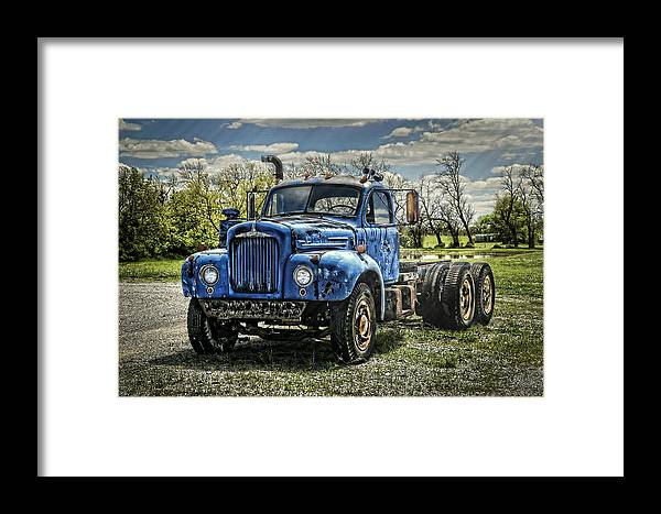 1958 Framed Print featuring the photograph Big Blue Mack by Ken Smith