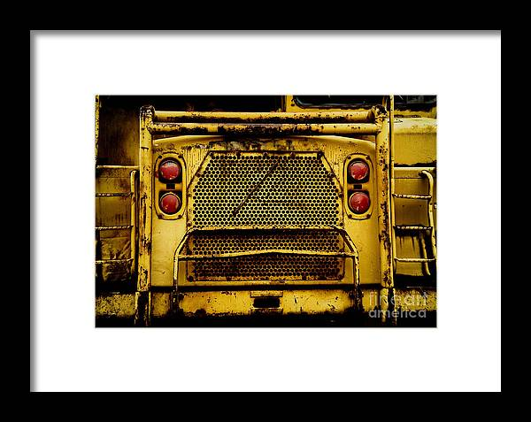 Bulldozer Framed Print featuring the photograph Big Dump Truck Grille by Amy Cicconi