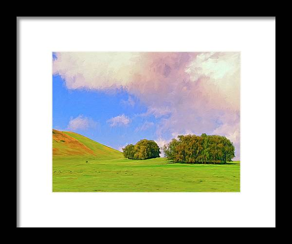 Big Island Ranch Framed Print featuring the painting Big Island Ranch by Dominic Piperata