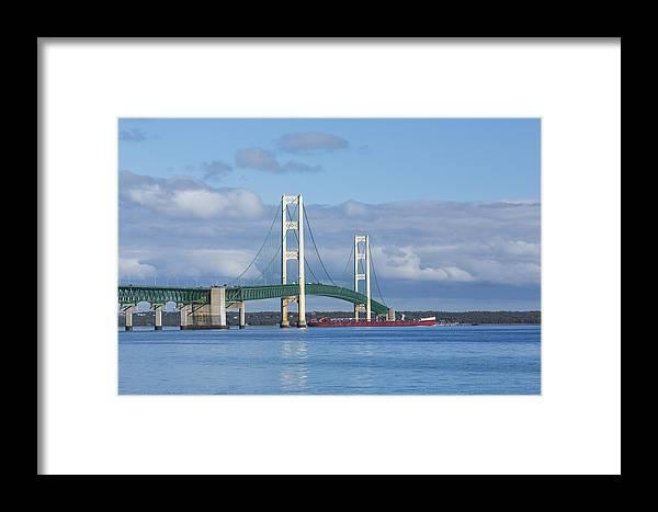 Bridge Framed Print featuring the photograph Big Mackinac Bridge 65 by John Brueske