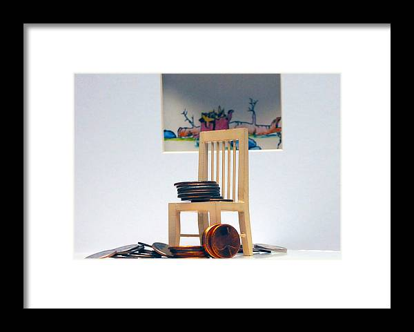 Coins On A Chair Framed Print featuring the photograph Chump Change by Leon Hollins III